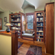Arts & Crafts Custom Home - Library Window Seat